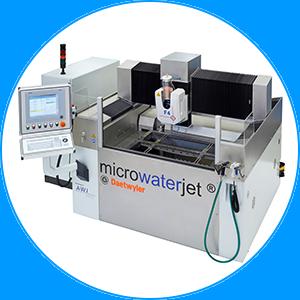 Machine découpe jet d'eau de très haute précision